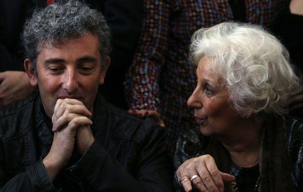 Estela de Carlotto junto a su nieto Guido Hurban.