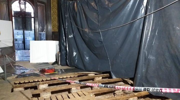 Inician la búsqueda de restos arqueológicos en el hall del Museo Estévez