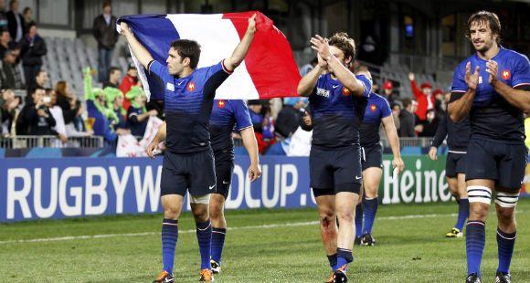 Francia venció a Inglaterra por 19 a 12 y clasificó a las semifinales de la Copa del Mundo de Rugby