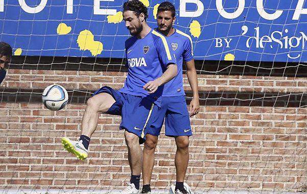 La atracción. Daniel Osvaldo estará en el banco de suplentes de Boca y podría ingresar en el segundo tiempo.