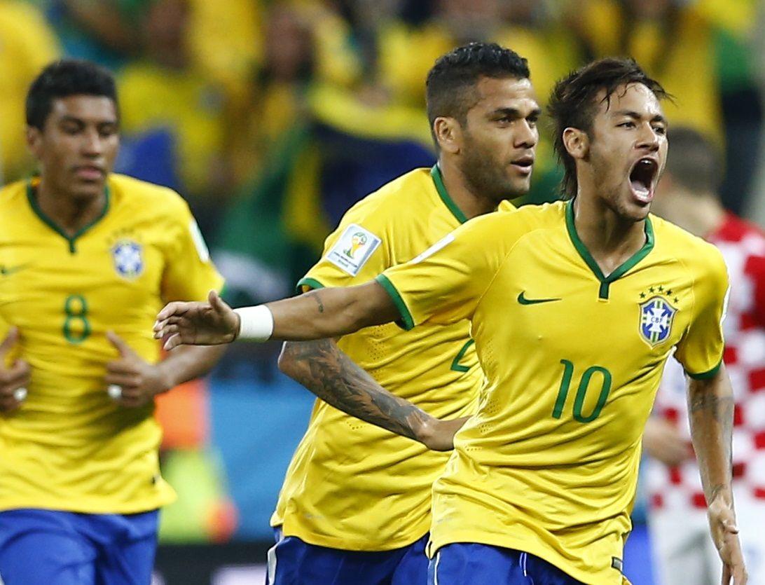 Neymar marcó el tanto con el que Brasil logró el empate con Croacia