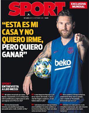 Messi: Es mi casa y no quiero irme
