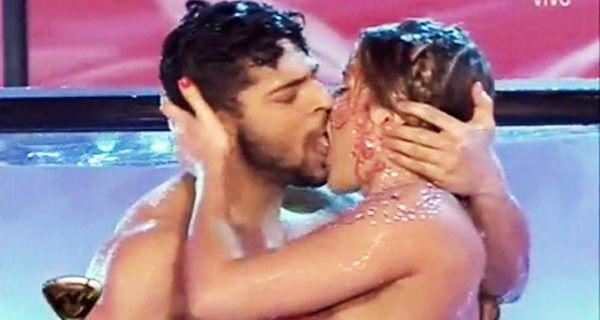Jimena Barón y su bailarín calentaron el agua con un fogoso beso