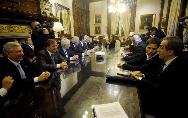 Cara a cara. La cúpula de la UIA le acercó un conjunto de propuestas para el sector a Cristina y su gabinete.