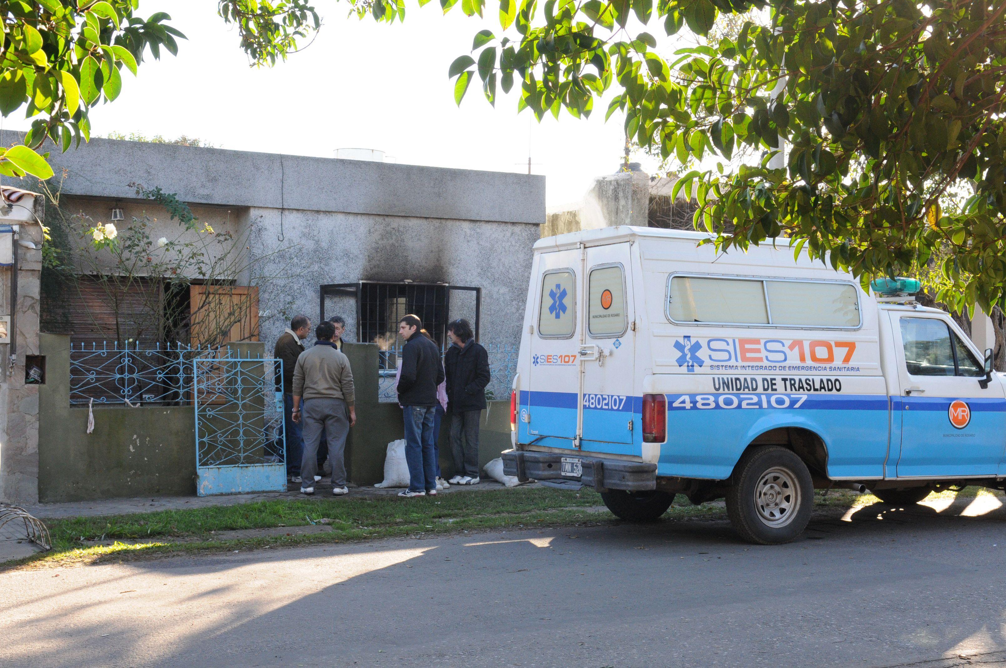 Dos ancianos murieron al incendiarse una vivienda en la zona sur de Rosario