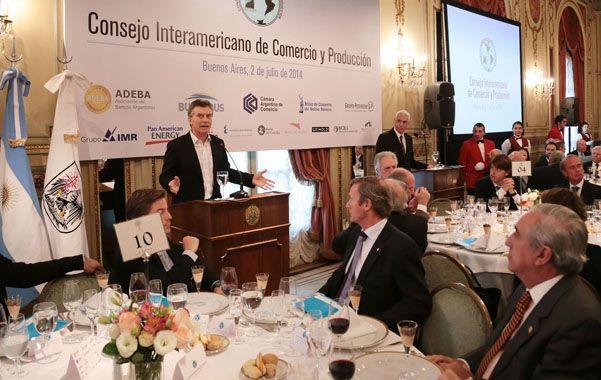 Frase polémica. Macri buscó quitarle peso a la comparación que hace el kirchnerismo entre él y el vicepresidente.