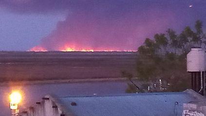 Las islas frente a Villa Constitución también fueron objeto de focos de incendios.