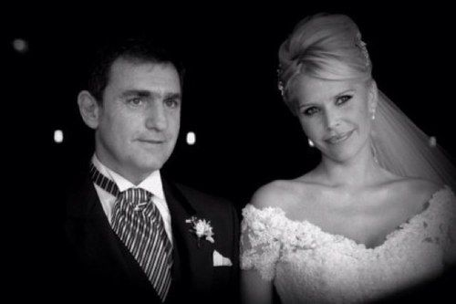 La imagen de la pareja el día de su casamiento es la que ilustra la cuenta de Twitter de Fabián Rodríguez.