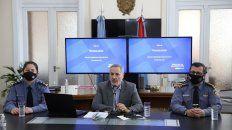 El ministro de Seguridad, Marcelo Sain, llevó a cabo este miércoles una conferencia de prensa.