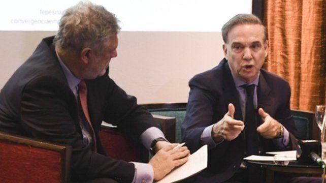 candidato. Pichetto evaluó que en este proceso electoral se pone en juego dos modelos de país antagónicos.