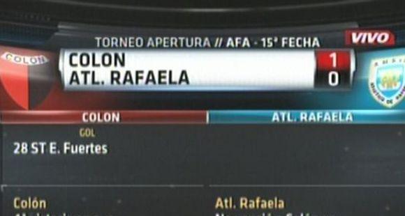 Colón le ganó a Atlético Rafaela con un gol del interminable Bichi Fuertes