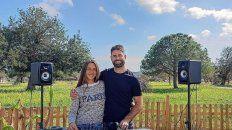 El paranaense junto a su esposa Nurai, quien es una de las DJ más importantes de Ibiza. La música los unió.