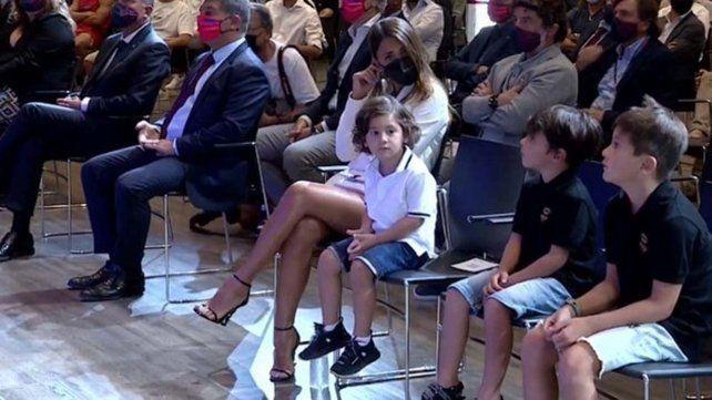 Un fan de Barcelona provocó a Thiago Messi y el nene no se quedó callado