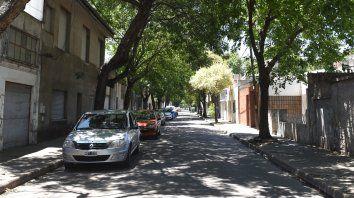 La zona de la cortada Marcos Paz al 4200, donde la madrugada del 25 de diciembre de 2017, el ex policía Angel Ruiz asesinó de una puñalada a Cristian Mautone.