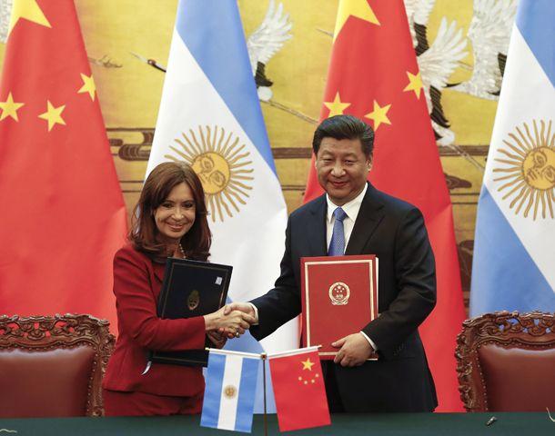 La presidenta se reunió con su par de la China.