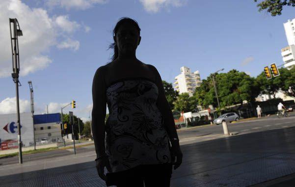 Luisa Fernández en el hospital en enero pasado. A su marido lo mataron en un robo. Nunca supo quién fue.
