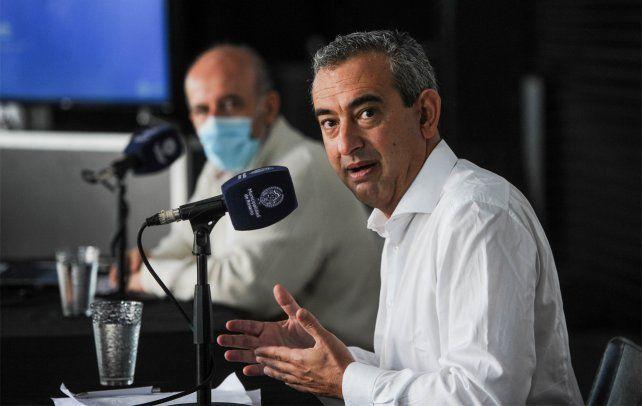 Conferencia de prensa del intendente Pablo Javkin