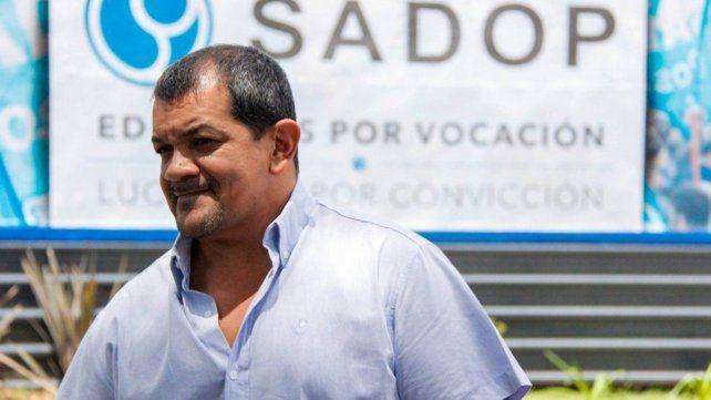 El secretario general de Sadop Rosario