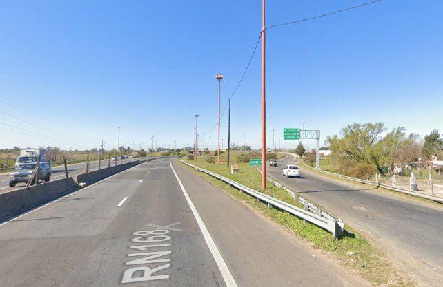 Ruta Nacional 168. A la altura de la zona de La Guardia