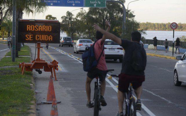 Incorporan un nuevo tramo de ciclovías en la costanera norte, desde Génova a Puccio.