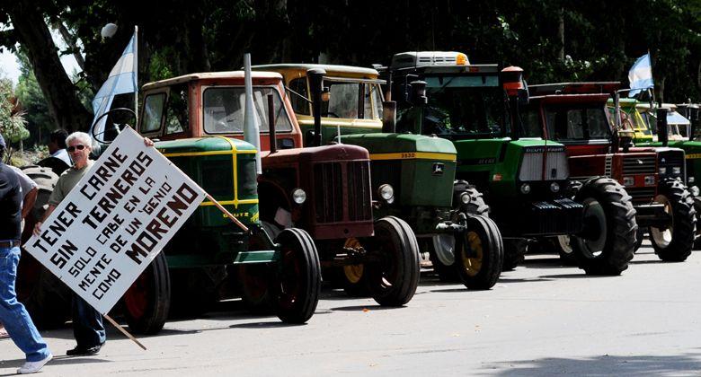 Más de 600 chacareros en el tractorazo convocado por Federación Agraria
