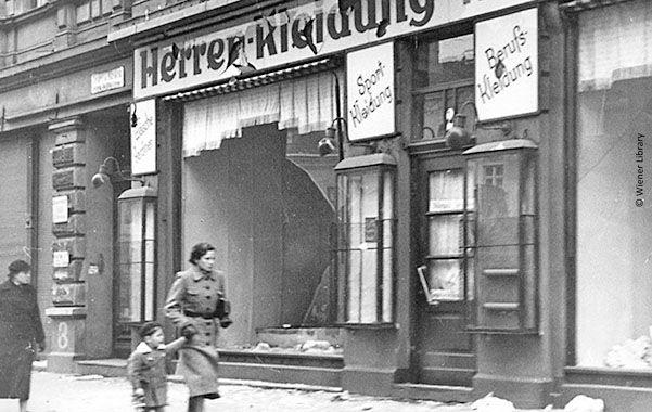 Negocios judíos destrozados aquel 9 de noviembre de 1938.