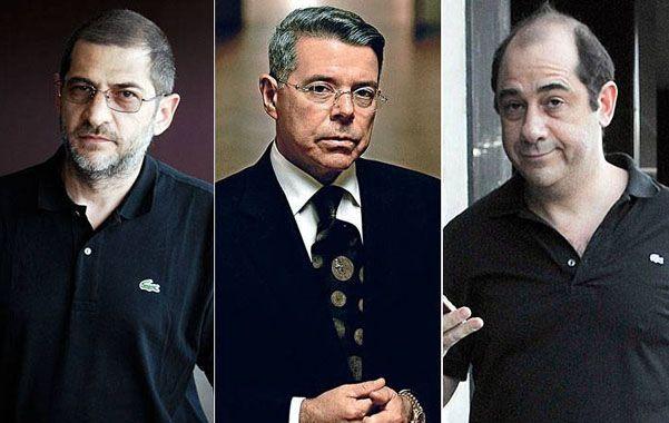 Tres en conflicto. Oyarbide (centro) procesó a los hermanos Sergio y Pablo Schoklender por asociación ilícita.