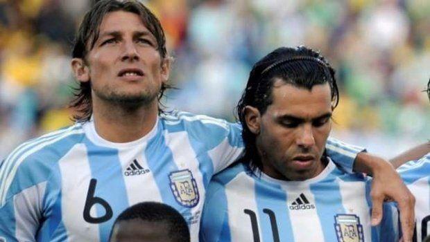 Gabriel Heinze y Carlos Tevez