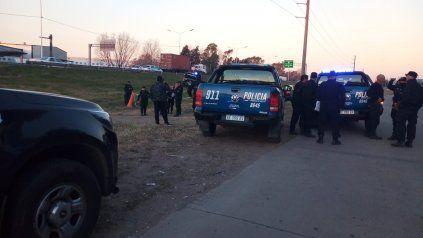 Zona convulsionada. Los delincuentes se tirotearon con la policía en un momento de amplio tránsito vehicular.