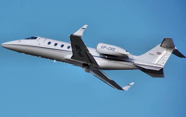 Learjet 60. El gobernador iba en un avión como éste.