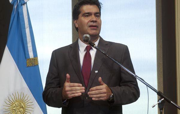 Tensión. Capitanich se reunió el lunes con el jefe cegetista Antonio Caló.