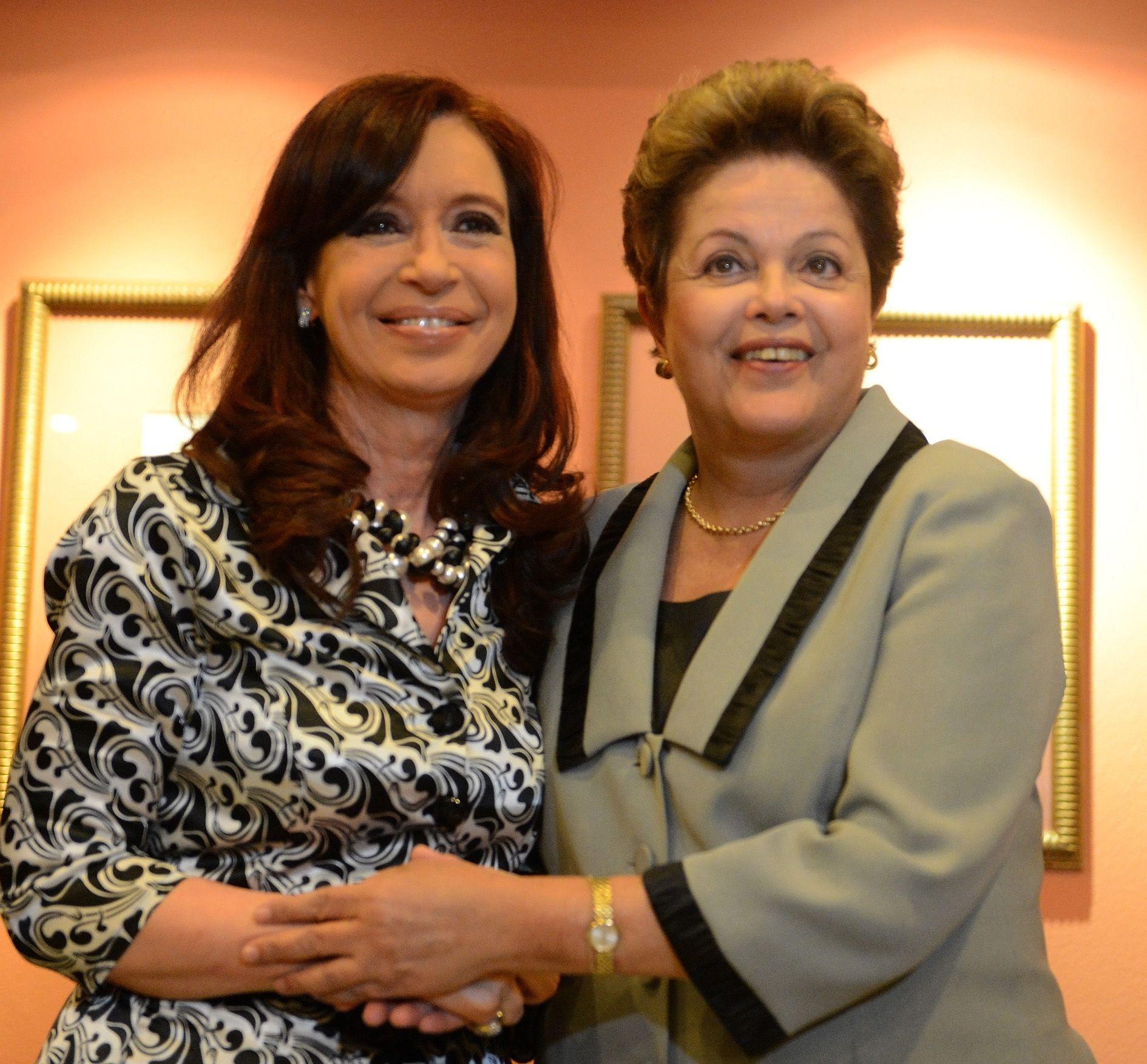 Cristina y su par brasileña Dilma Rousseff se reunieron en la tarde de ayer en un encuentro pedido por la Argentina.