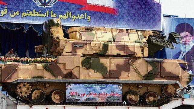 letal. Un sistema de misiles Tor durante un desfile en Teherán.