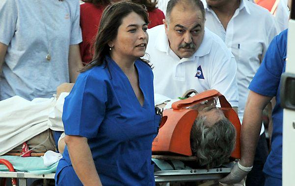 Al hospital. El gobernador sanjuanino