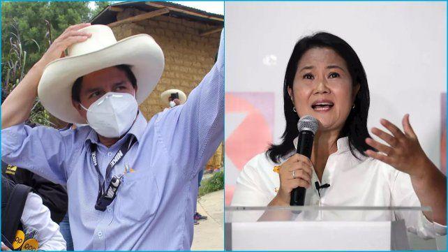 Pedros Castillo muestra una ventanja de 41% a 26% sobre Keiko Fujimori.