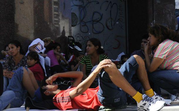 Acampe. Los militantes tomaron la calle durante nueve días. (Foto: E. Rodríguez Moreno)