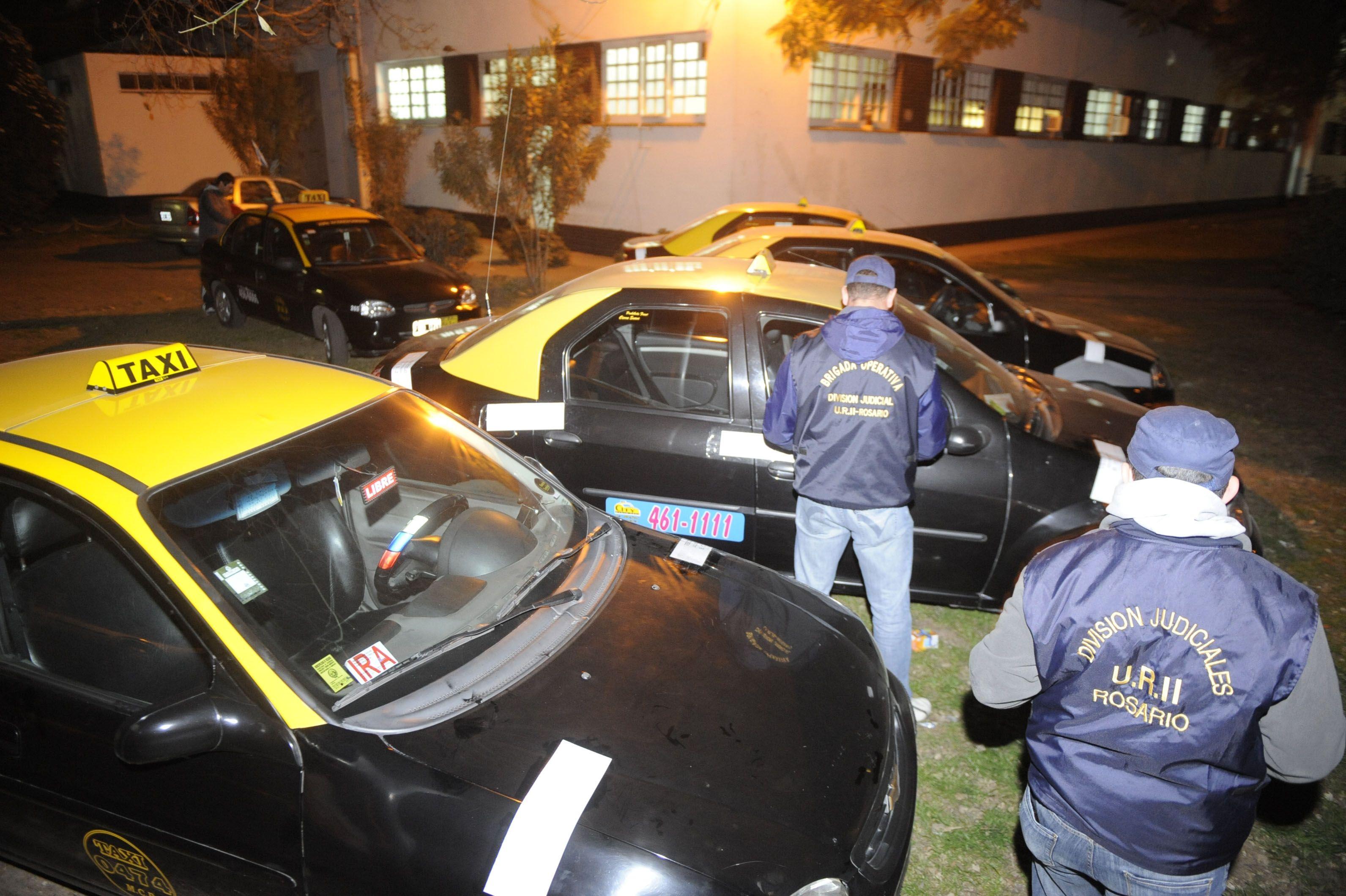 La flota de taxis incautada el jueves