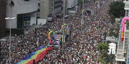 La fiesta por los derechos gays reunió en San Pablo a 5 millones de personas