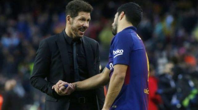 Juntos. El Cholo Simeone pretendió sumar a Messi