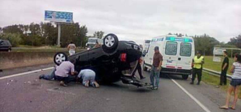 La hija de Nazarena Vélez protagonizó un espectacular accidente cuando volvía de Mar del Plata por la ruta 2.