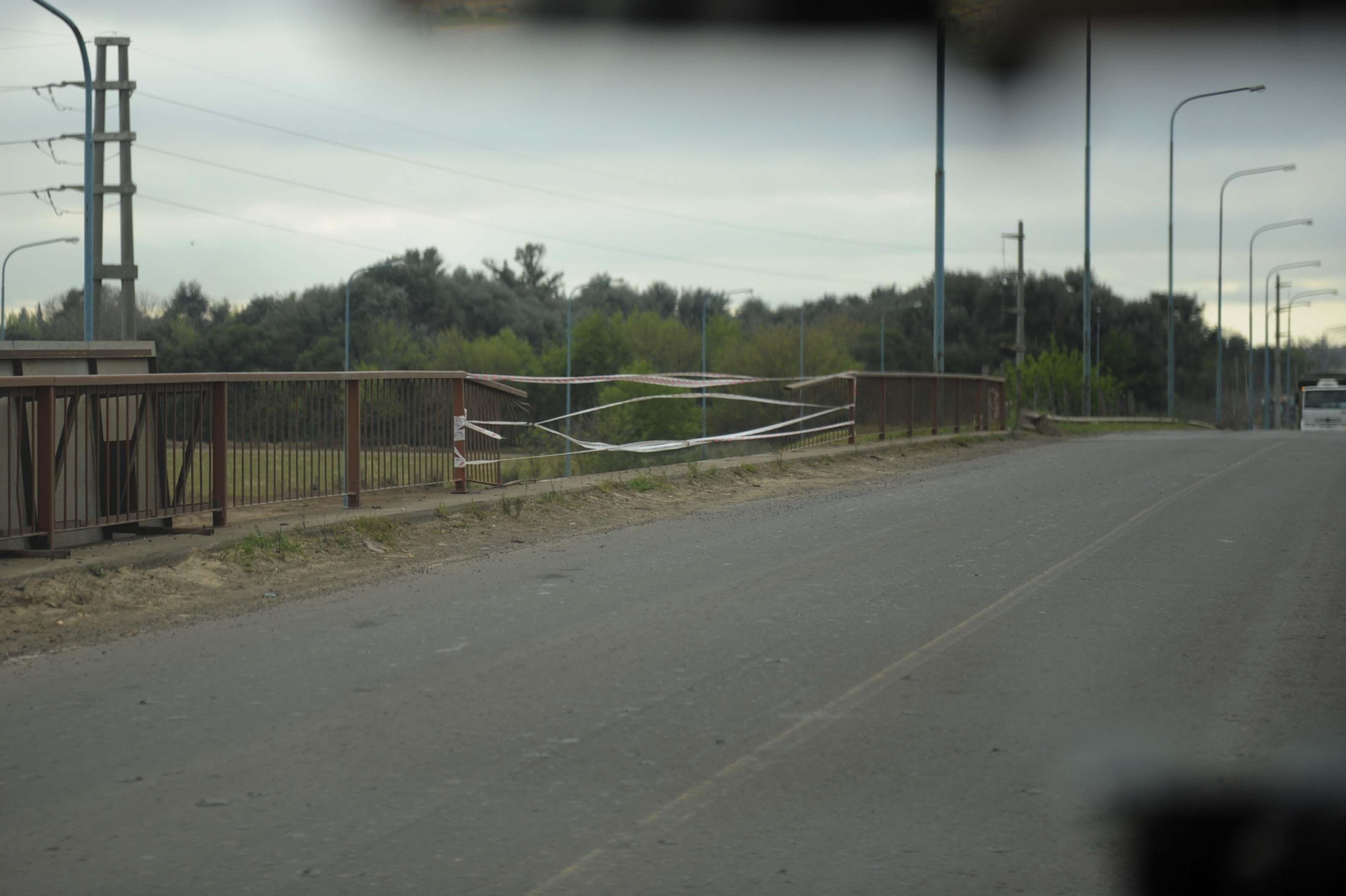 El lugar donde se produjo el accidente. (Foto: Celina M. Lovera)