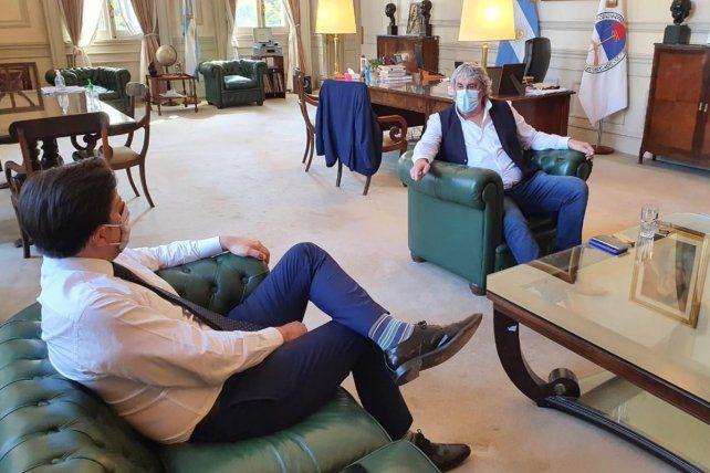 En Buenos Aires. El encuentro se realizó en la sede ministerial.