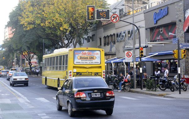 La transitada avenida Pellegrini