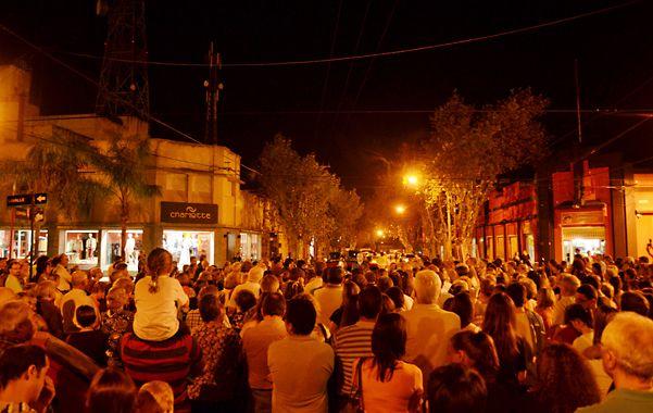 La comunidad de Cañada de Gómez acompañó a Marcelo Brun durante la exposición del petitorio que envió a las autoridades políticas y judiciales.