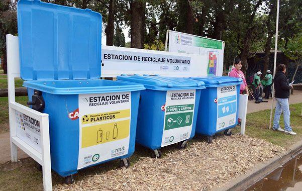 Para cada residuo. Los contenedores instalados en el barrio San Cayetano permitirán la separación de la basura.