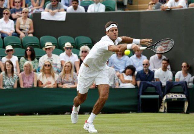 Del Potro debutó con un trabajoso triunfo ante Kokkinakis y avanza en Wimbledon