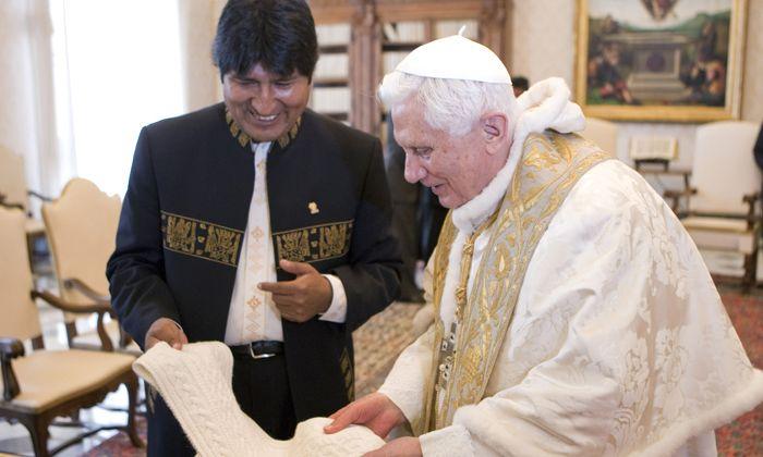 Evo Morales se reunió con el Papa y le dijo que hay que abolir el celibato