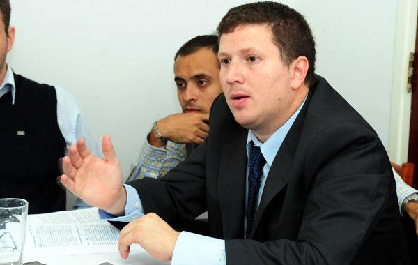 El diputado provincial Federico Angelini
