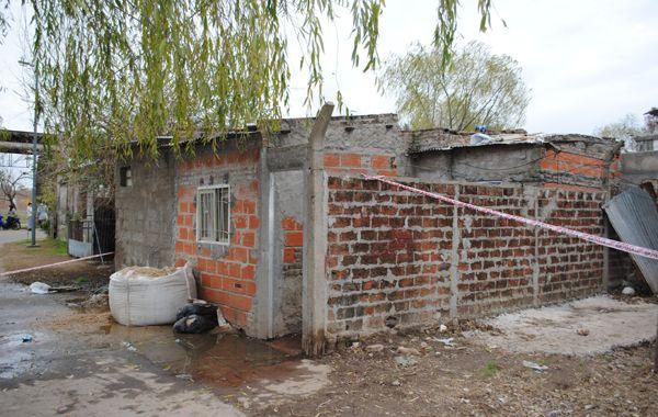 La humilde vivienda donde se desencadenó la tragedia