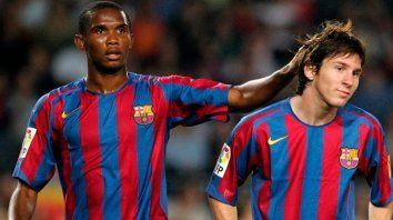 """""""Estoy muy contento de que Messi se haya quedado, pero el Barça, más allá de Messi, necesita ocho jugadores con el estilo del tiki-taka, argumentó el exdelantero camerunés nacionalizado español."""